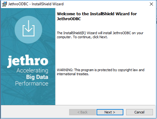 ODBC Driver for Windows - Jethro Latest - Confluence